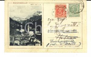 1921 RONCOBELLO (BG) Veduta panoramica  *Biglietto VINTAGE FP VG