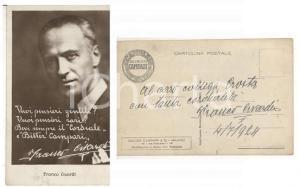 1924 Franco CIVARDI per Bitter CAMPARI *Cartolina pubblicitaria AUTOGRAFA