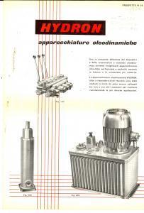 1960 ca MILANO Apparecchiature oleodinamiche HYDRON *Pieghevole ILLUSTRATO