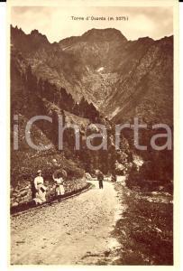 1915 ca USSEGLIO (TO) Strada per MARGONE *Cartolina ANIMATA bambine FP NV