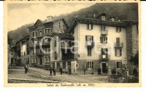 1945 PIEDICAVALLO (BI) Veduta con ALBERGO MOLOGNA *Cartolina ANIMATA FP VG