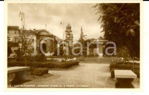 1942 CASTELFIDARDO (AN) Giardini pubblici e Porta Vittoria *Cartolina FP NV