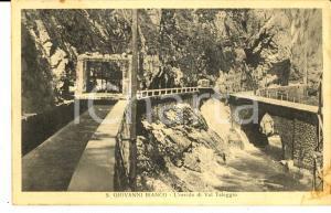 1930 ca SAN GIOVANNI BIANCO (BG) L'orrido di VAL TALEGGIO *Cartolina FP NV