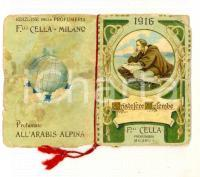 1916 MILANO F.LLI CELLA Profumieri - Calendarietto tascabile CRISTOFORO COLOMBO