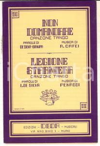 1939 DE SILVA Non domandare - Legione straniera *Canzoni tango ed. DEOR MILANO