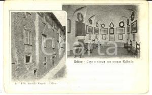1915 ca URBINO Casa e stanza ove nacque Raffaello *Cartolina postale FP NV