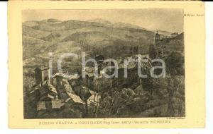 1928 ARTE Mario VELLANI MARCHI Borgo Fratta a TODI *Cartolina mostra VENEZIA