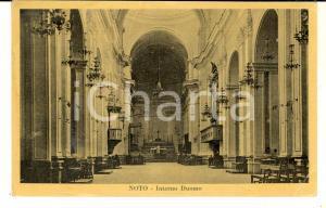 1940 ca NOTO (SR) Interno del Duomo *Cartolina postale VINTAGE FP NV