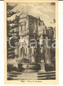 1930 ca NOTO (SR) Chiesa di SAN DOMENICO *Cartolina postale VINTAGE FP NV