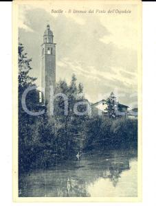 1930 ca SACILE (PN) Il LIVENZA visto dal Ponte dell'Ospedale *Cartolina FP NV