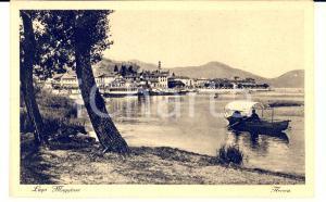 1930 ca ARONA (NO) Veduta dal Lago Maggiore con imbarcazione *Cartolina FP NV
