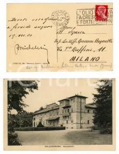 1930 VALLOMBROSA (FI) Castello di ACQUABELLA *Cartolina R. MICHELESI FP VG