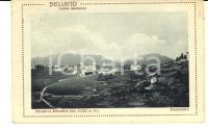1921 SELVINO (BG) Veduta panoramica del paese *Cartolina postale FP VG