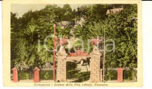 1910 ca CALTAGIRONE (CT) Entrata della villa VITTORIO EMANUELE *Cartolina FP NV