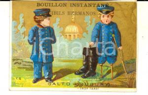 1900 ca SALTO (URUGUAY) Bouillon CIBILS HERMANOS Figurina pubblicitaria mutilato