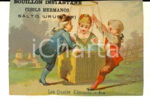 1900 ca SALTO (URUGUAY) Bouillon CIBILS HERMANOS Figurina pubblicitaria L'AIR