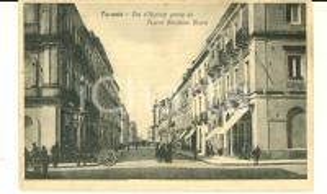 1920 ca TARANTO Via D'AQUINO vista da piazza Giordano BRUNO *Cartolina ANIMATA