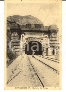 1930 BARDONECCHIA (TO) Galleria del FREJUS *Cartolina ANIMATA soldati FP