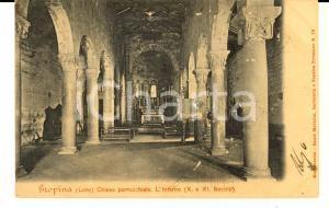 1904 LORO CIUFFENNA (AR) GROPINA - Interno chiesa parrocchiale *Cartolina FP VG