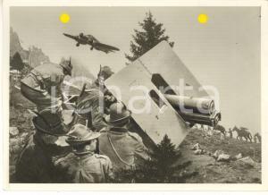 1941 WW2 ALPINI in azione in montagna *Foto per cartolina ditta MARZARI