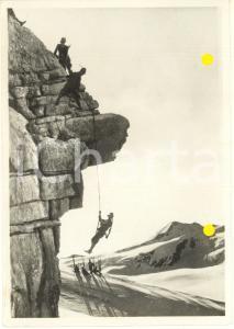 1940 WW2 ALPINI in arrampicata *Foto per cartolina ditta Paolo MARZARI