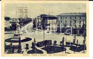 1941 MODENA Piazzale S. FRANCESCO e monumento *Cartolina postale FP VG