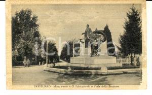 1943 SAVIGLIANO Monumento a G. SCHIAPARELLI e Viale della Stazione *Cartolina