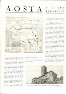 1942 AOSTA e la sua provincia - Fascicolo ENTE TURISMO *ILLUSTRATO 10 pp.