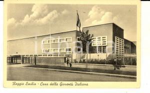 1930 ca REGGIO EMILIA Casa della Gioventù Italiana *Cartolina ANIMATA FP NV