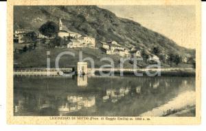 1930 ca LIGONCHIO DI SOTTO (RE) Veduta panoramica *Cartolina postale FP NV