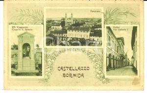 1939 CASTELLAZZO BORMIDA (AL) Vedutine con viale UMBERTO I *Cartolina FP VG