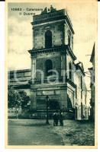 1931 CATANZARO Veduta del Duomo *Cartolina ANIMATA FP VG VINTAGE