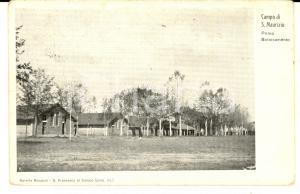 1916 SAN MAURIZIO CANAVESE Campo militare - Primo baraccamento *Cartolina FP VG