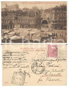 1912 TRIESTE Piazza Carlo GOLDONI *Cartolina Piero ZAMPIERI Autografo