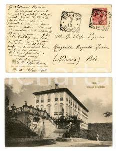 1916 MERATE (LC) Palazzo BELGIOIOSO *Cartolina don Giuseppe ROCCA FP VG