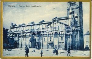 1930 ca MODENA Duomo visto dal lato meridionale *Cartolina ANIMATA FP NV