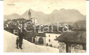 1920 PREONE (UD) Panorama del paese innevato *Cartolina ANIMATA FP