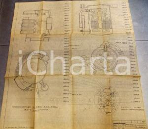 1974 OFFICINE GALILEO FIRENZE Insiene generale compressore DL 1hp *Schema