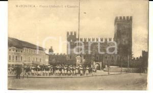 1915 ca MAROSTICA (VI) Piazza UMBERTO I e Castello *Cartolina ANIMATA bambini