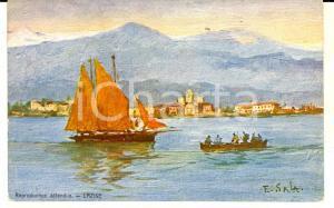 1920 ca ARTE E. SALA Lazise *Cartolina Navigazione LAGO DI GARDA FP NV