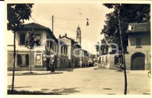 1950 ca BOLLATE (MI) Via Madonna Speranza con benzinaio ESSO *Cartolina FP NV