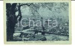 1918 BUSSOLENO (TO) Panorama visto da S. BASILIO *Cartolina VINTAGE FP VG