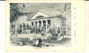 1902 ACQUI TERME (AL) Veduta del fontanino *Cartolina ANIMATISSIMA FP
