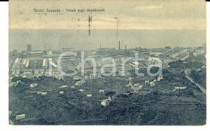 1928 SESTRI PONENTE Veduta degli stabilimenti *Cartolina postale FP VG