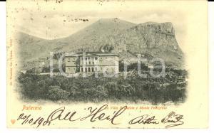 1901 PALERMO Villa BELMONTE e MONTE PELLEGRINO *Cartolina postale FP VG