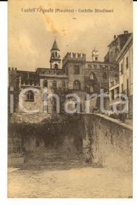 1913 CASTELL'ARQUATO (PC) Castello STRADIVARI *Cartolina postale FP VG