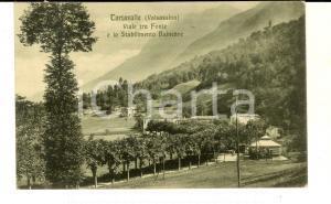 1916 TARTAVALLE (LC) Viale tra Fonte e Stabilimento balneare *Cartolina FP VG