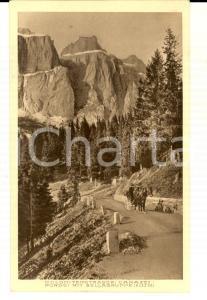 1930 ca CANAZEI (TN) Veduta del PORDOI con il Gruppo del Sella *Cartolina FP NV