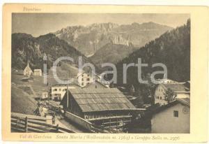 1940 ca VAL GARDENA (BZ) Veduta di SANTA MARIA e Gruppo SELLA *Cartolina FP NV