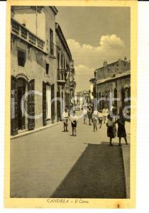 1940 ca CANDELA (FG) Veduta del Corso *Cartolina ANIMATA bambini FP NV